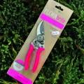 FLORAbrite Fluorescent Pink Bypass Secateurs - RHS Endorsed