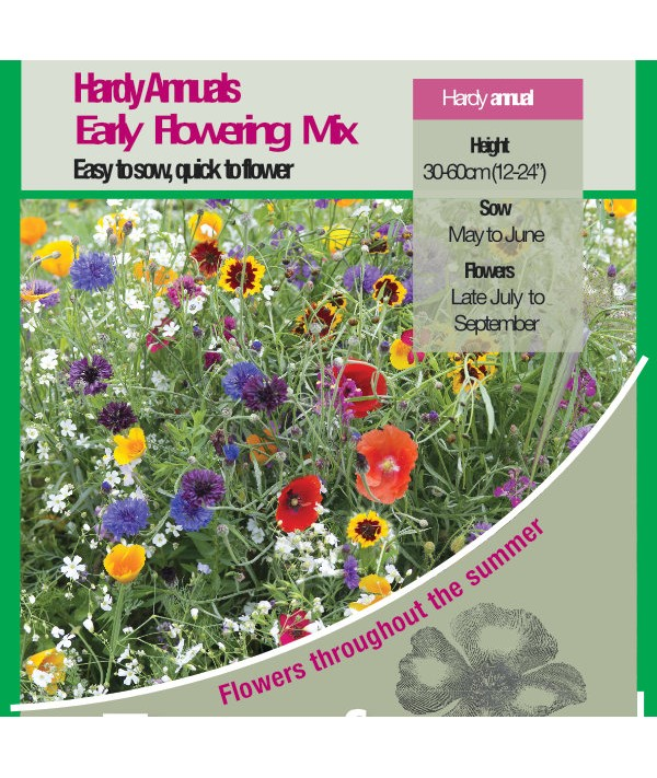 Hardy Annuals Early Flowering Mix Seeds