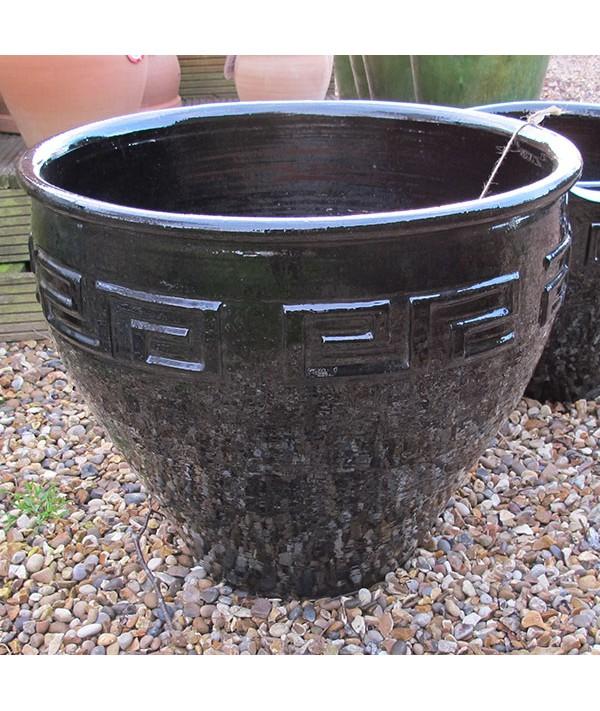 Pot Egypt series Glazed Large